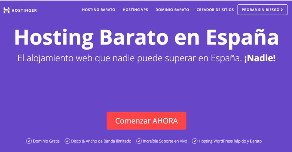 Hostinger El hosting más barato en España