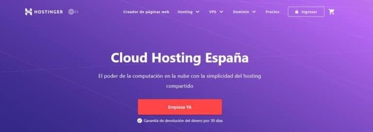 Cloud Hosting Hostinger España