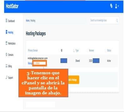 Cómo instalar WordPress en HostGator Paso3