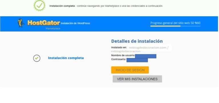 Cómo instalar WordPress en HostGator Paso 6