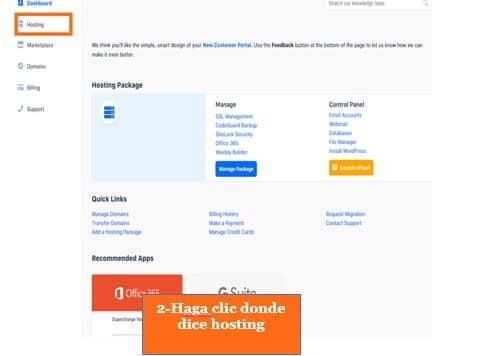 Cómo instalar WordPress en HostGator Paso 2